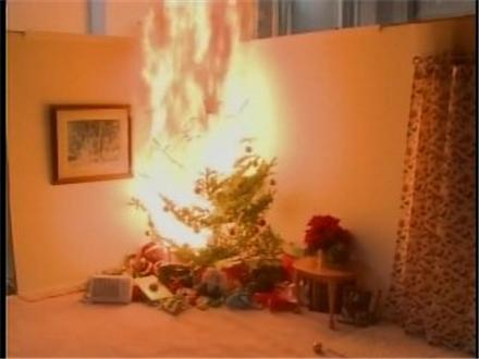 Christmas Tree On Fire.Make Sure Your Christmas Tree Doesn T Burn This Year